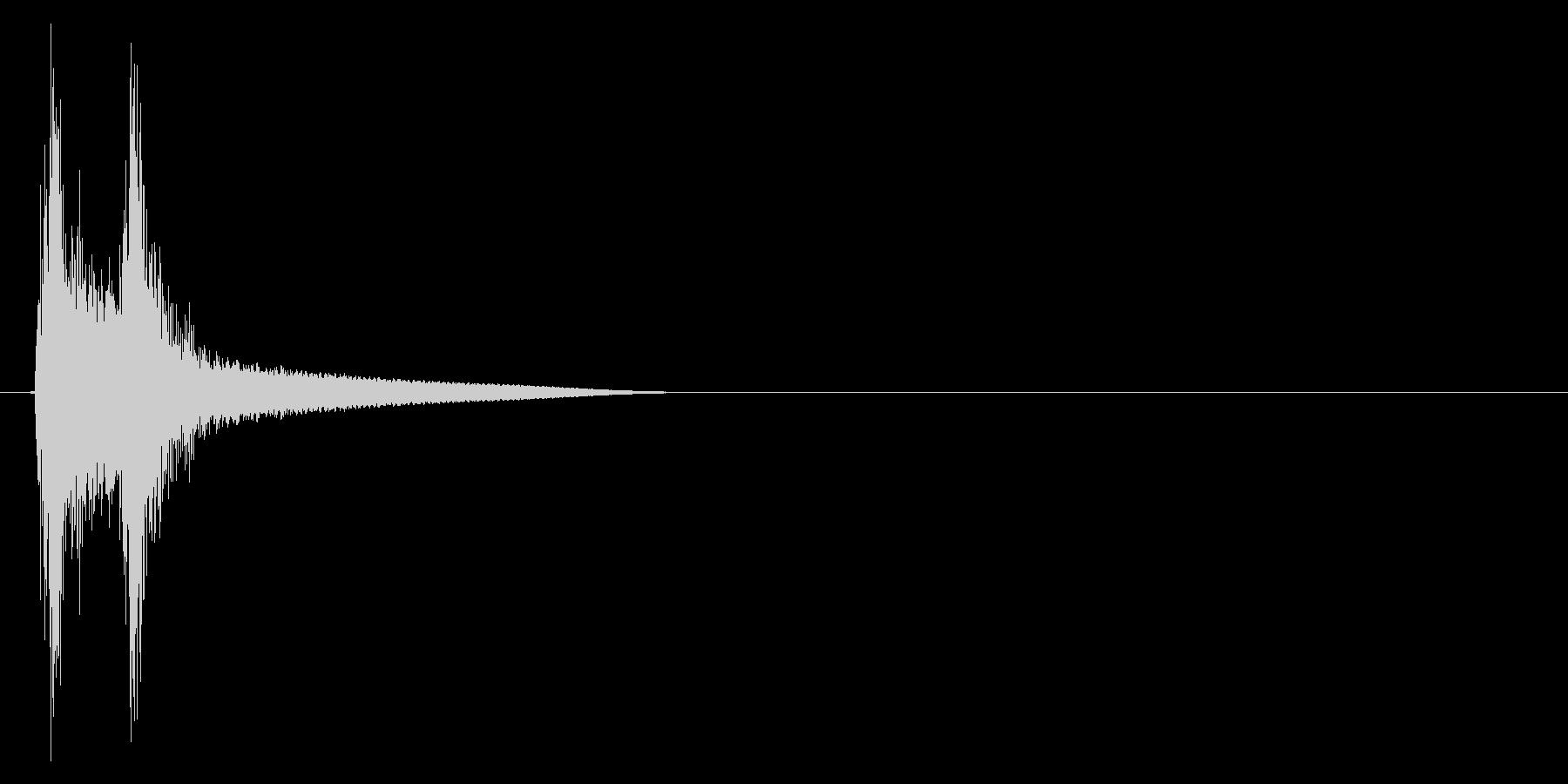 テテン(テロップ、テレビ、バラエティー)の未再生の波形