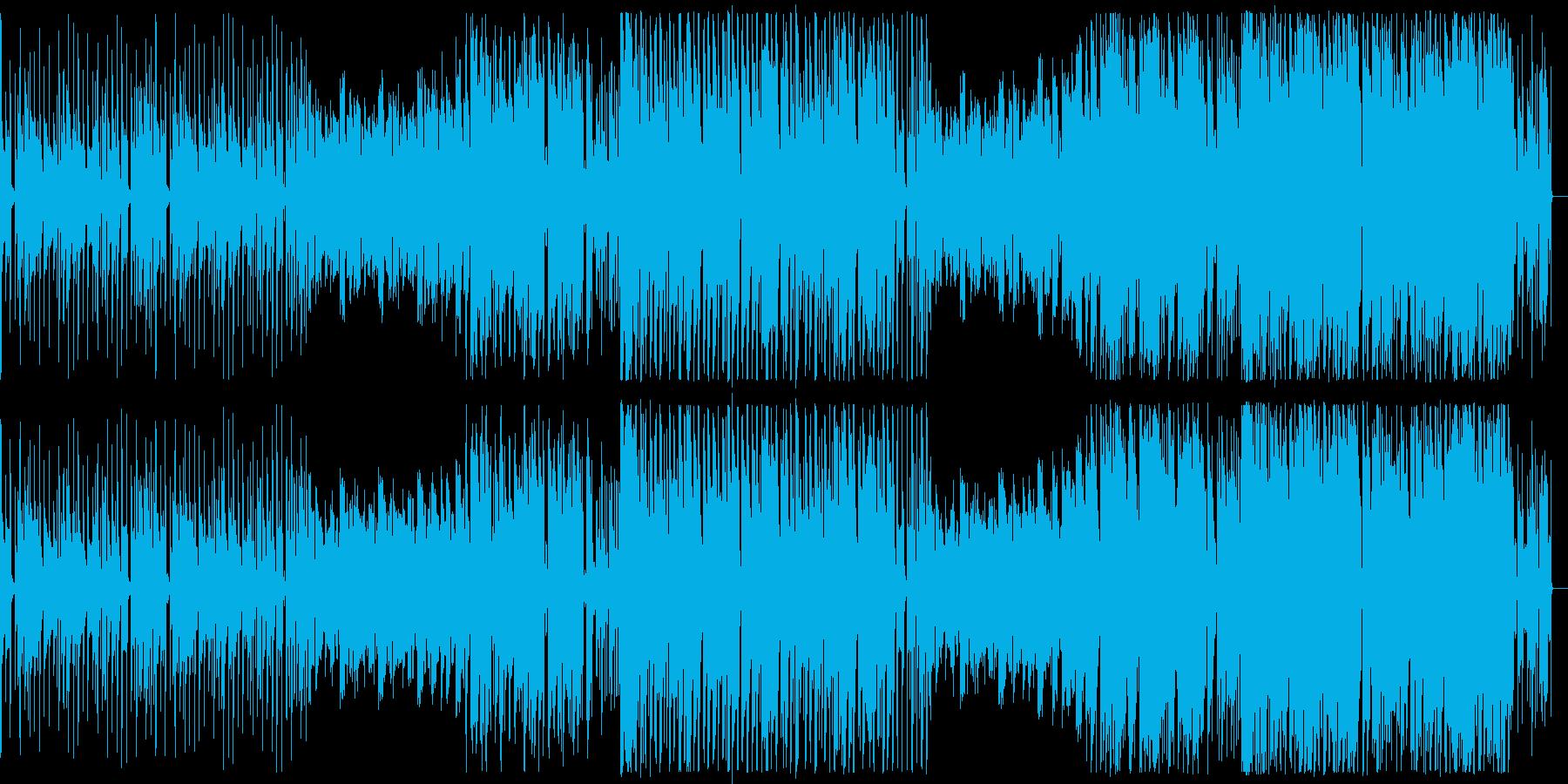 ダンジョンで流れてそうなイメージのBGMの再生済みの波形