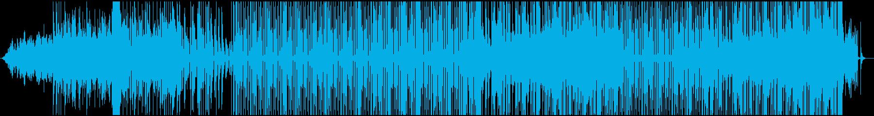 エフェクトを多用したレゲエ調のBGMの再生済みの波形