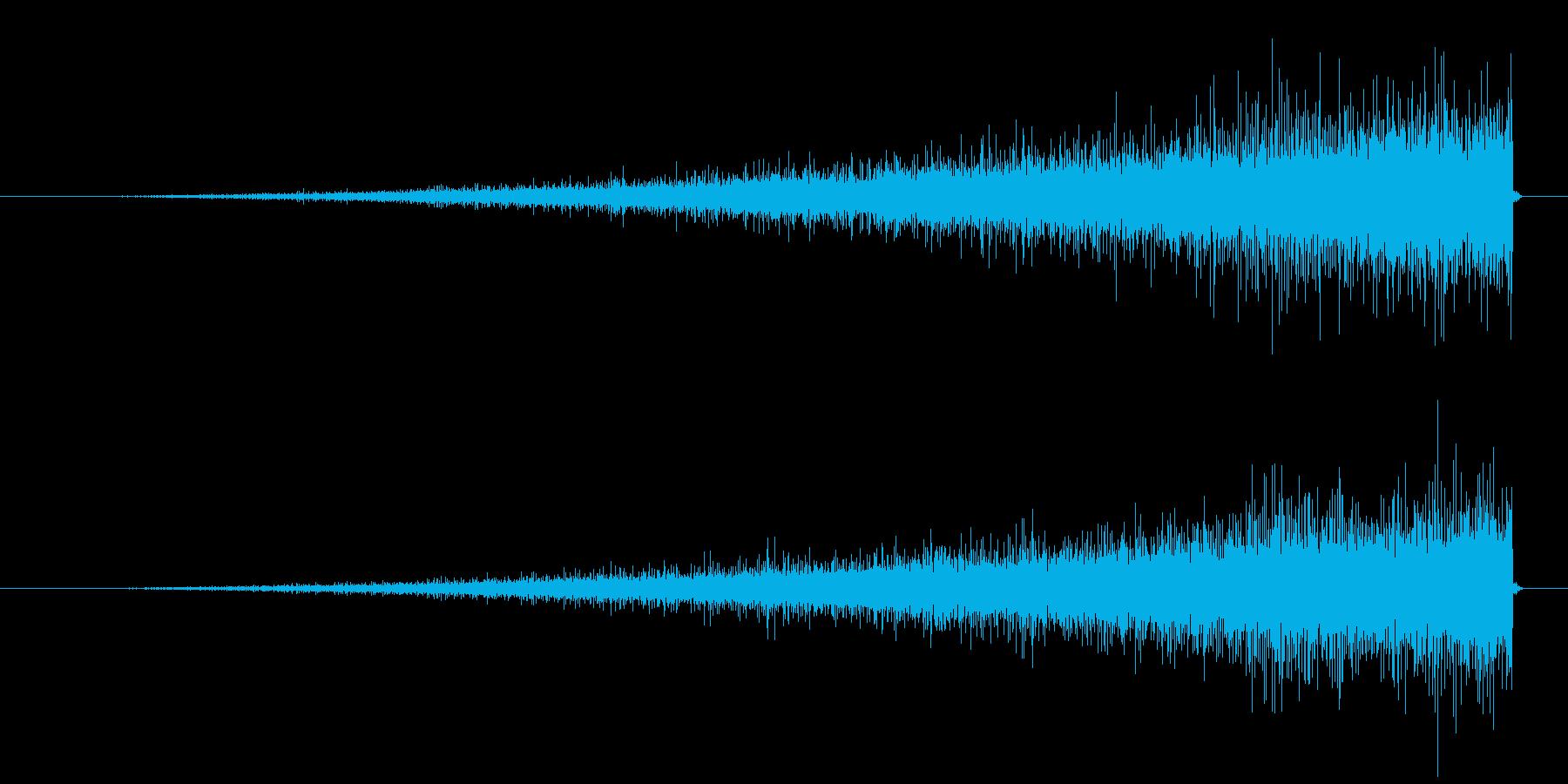 シュゥゥウ   です。の再生済みの波形