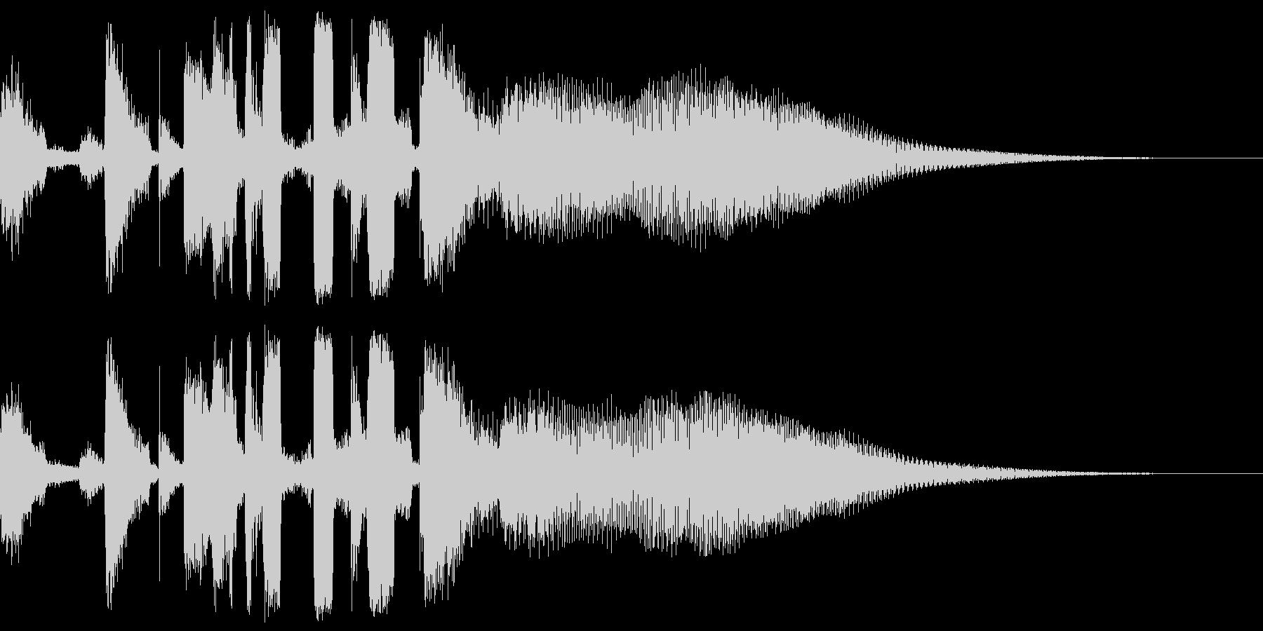 ハウス、クラブミュージック系のジングルの未再生の波形