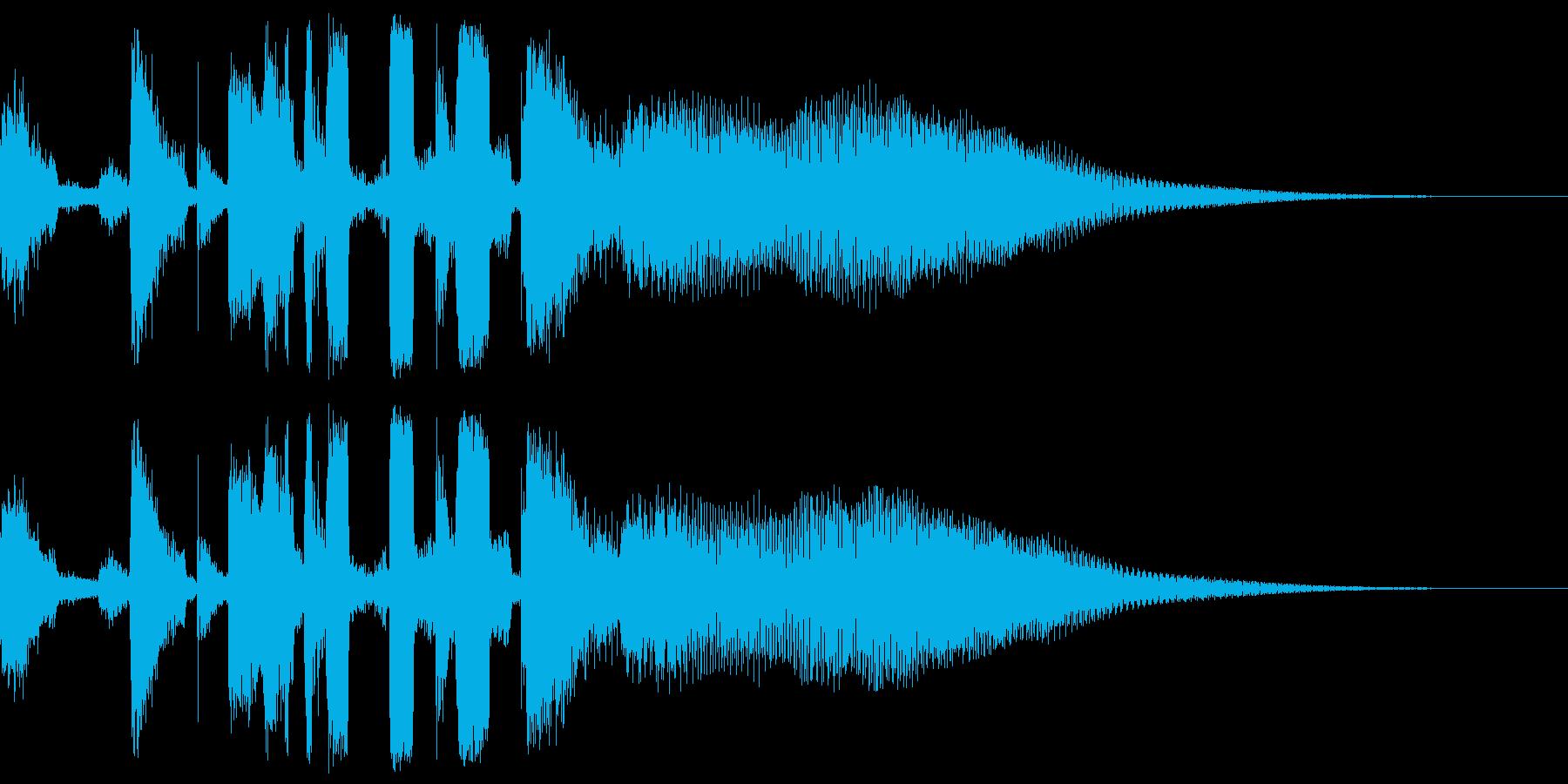 ハウス、クラブミュージック系のジングルの再生済みの波形
