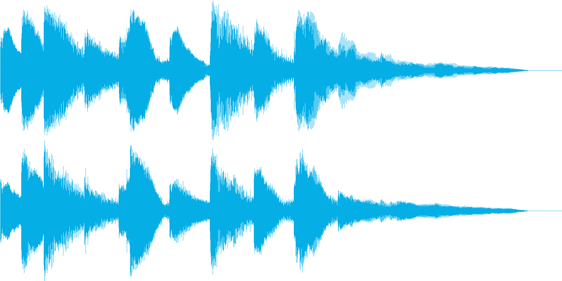 お洒落なピアノ ジングル CMの再生済みの波形
