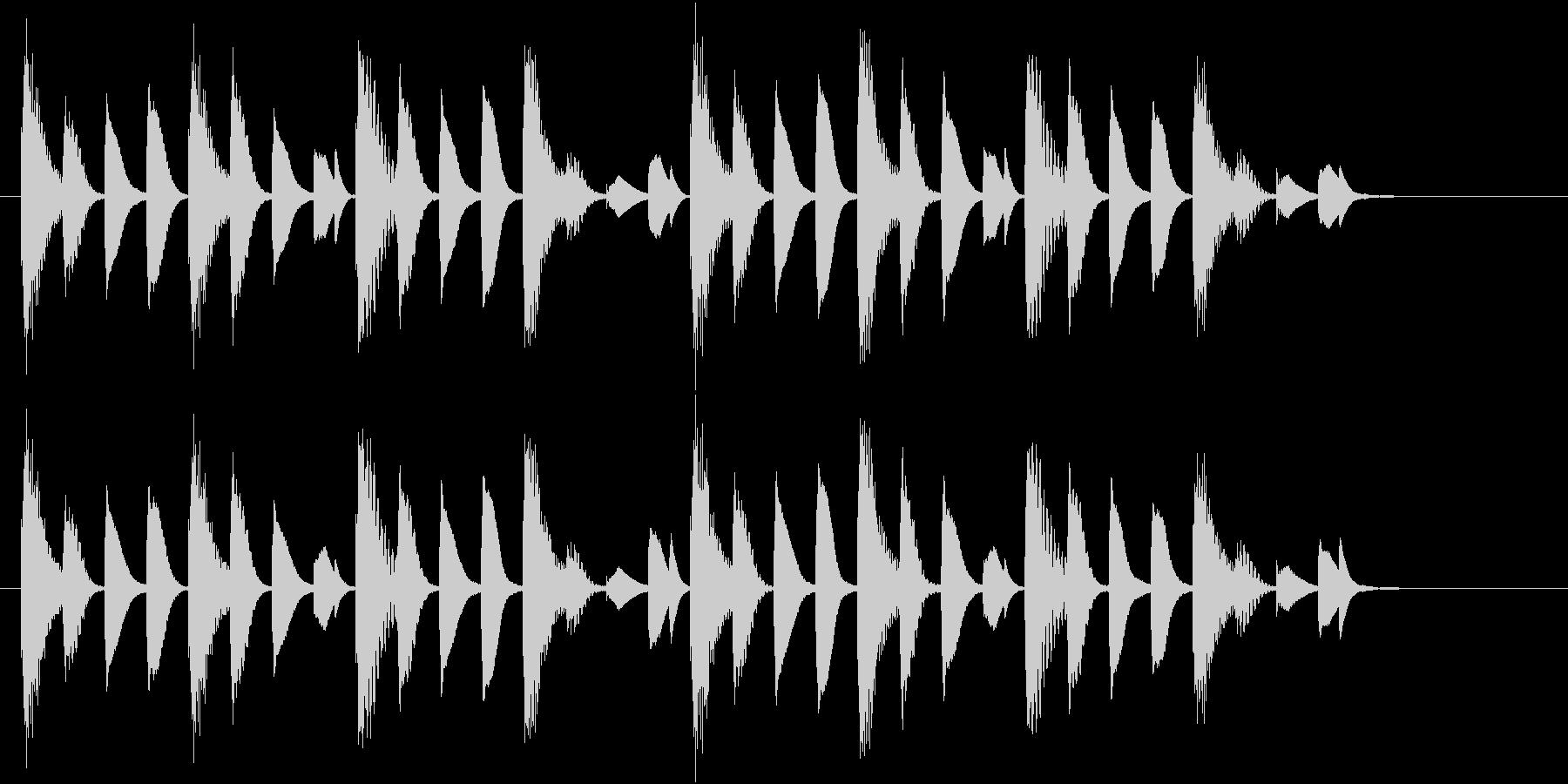 ほのぼのとした場面に使えるジングルの未再生の波形