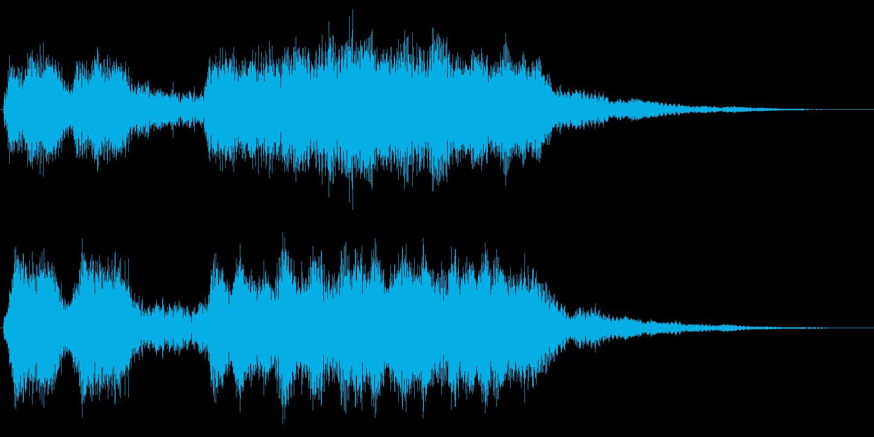 ダークに響くファンファーレ 重厚 魔族の再生済みの波形