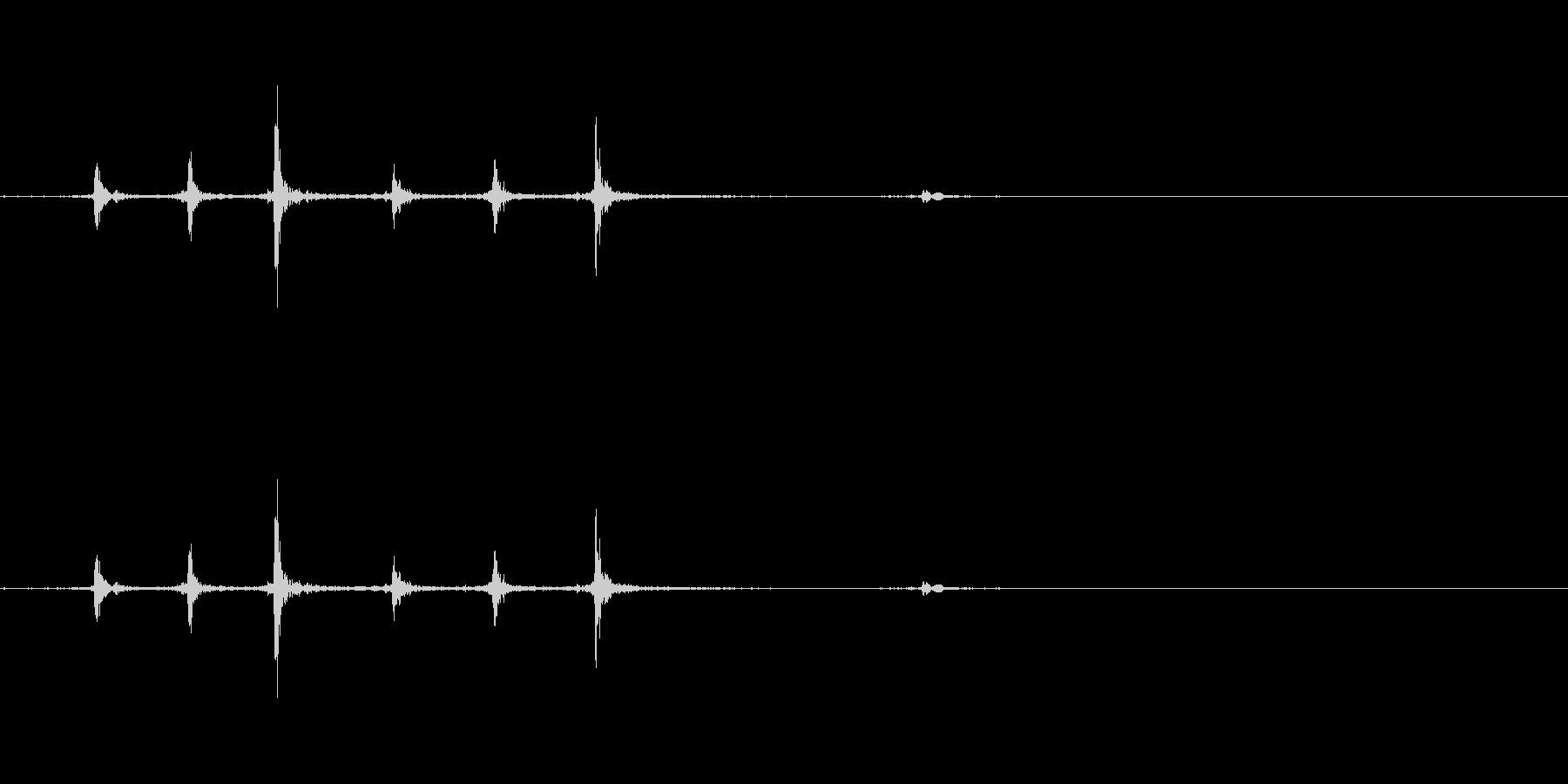 マウスのホイール1の未再生の波形