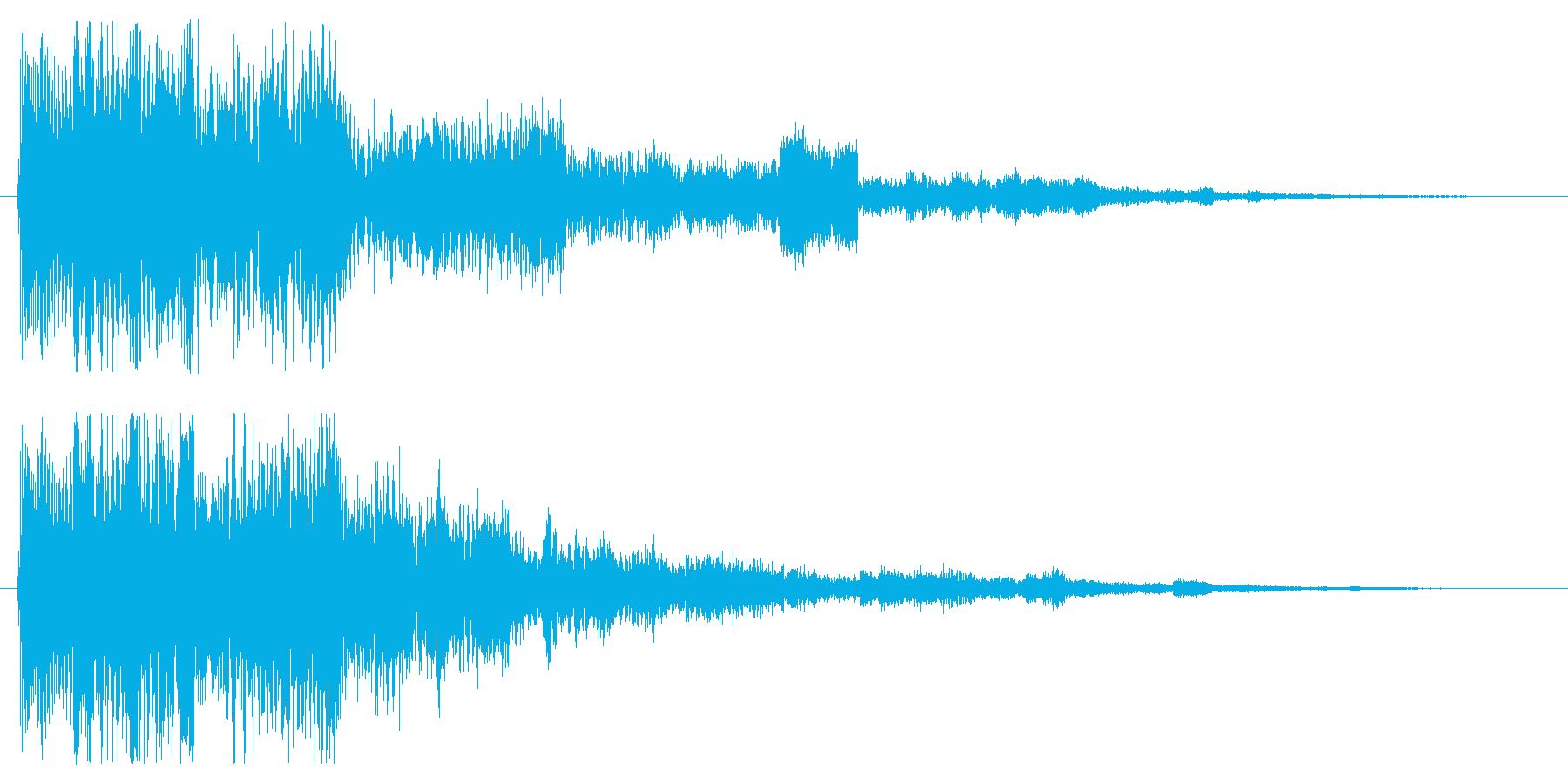 ファンタジックなセレクト音 スタート音の再生済みの波形