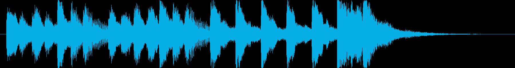 コミカルで怪しいオーケストラロゴ♪の再生済みの波形