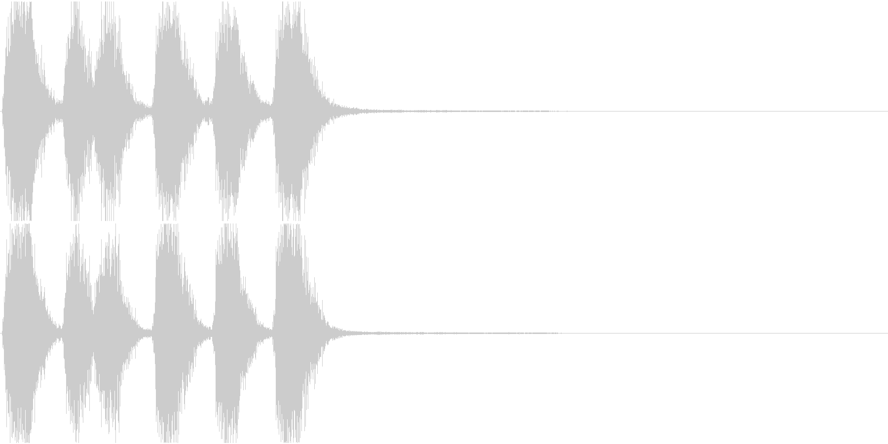 トランペット ファンファーレ 定番 15の未再生の波形