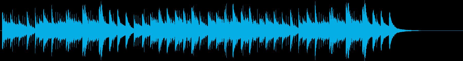 キラキラ星の変奏曲オルゴールの再生済みの波形