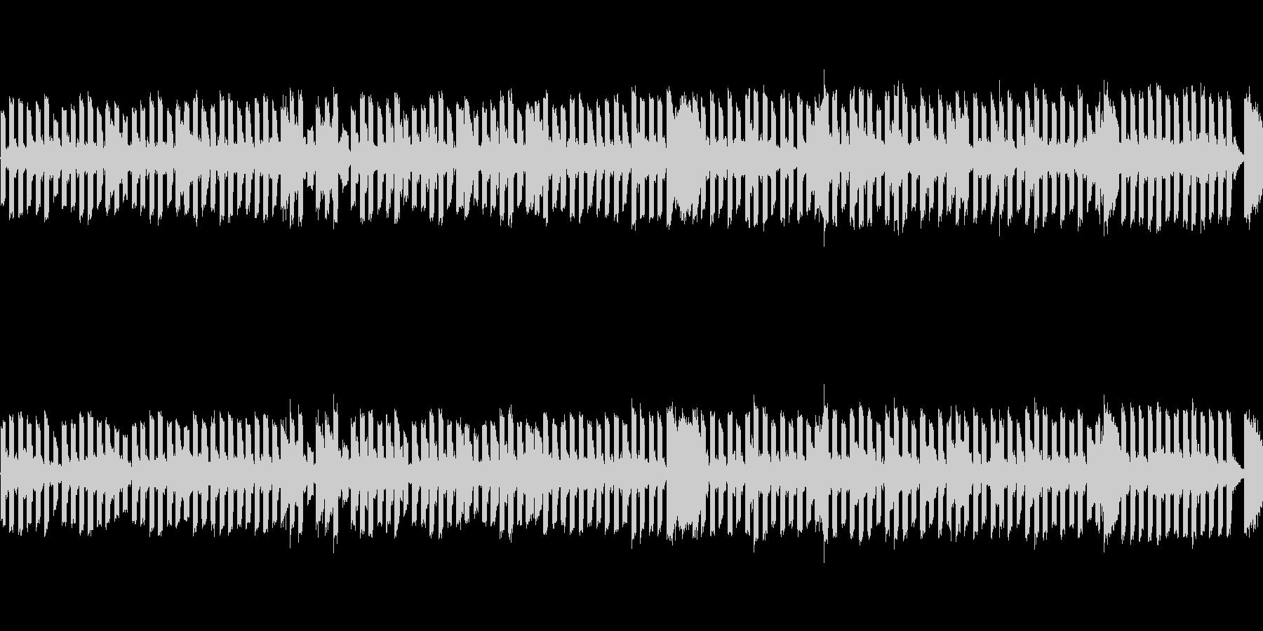 チップチューンのコミカルなBGMの未再生の波形