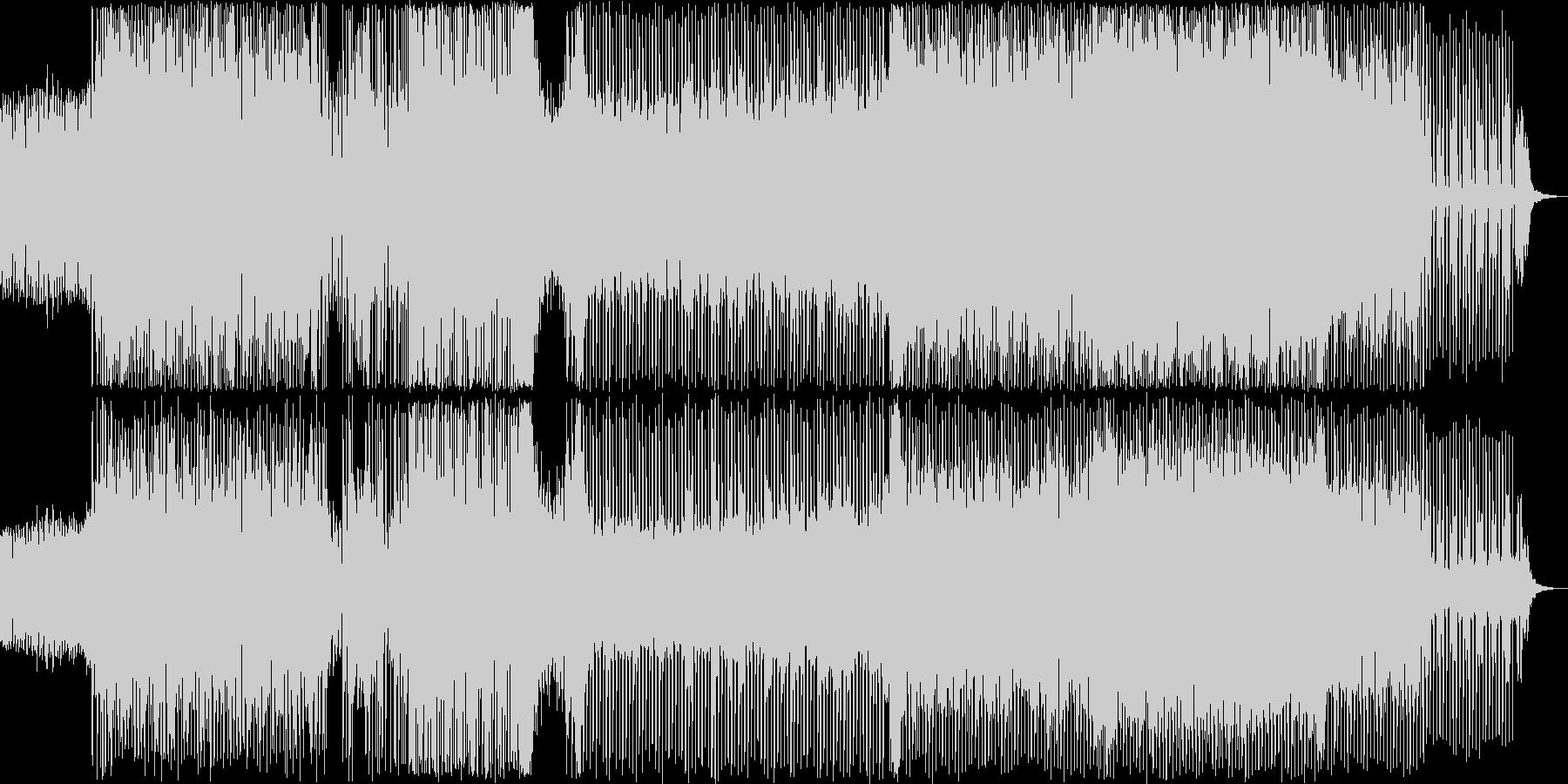 オーケストラヒットがメインのテクノの未再生の波形
