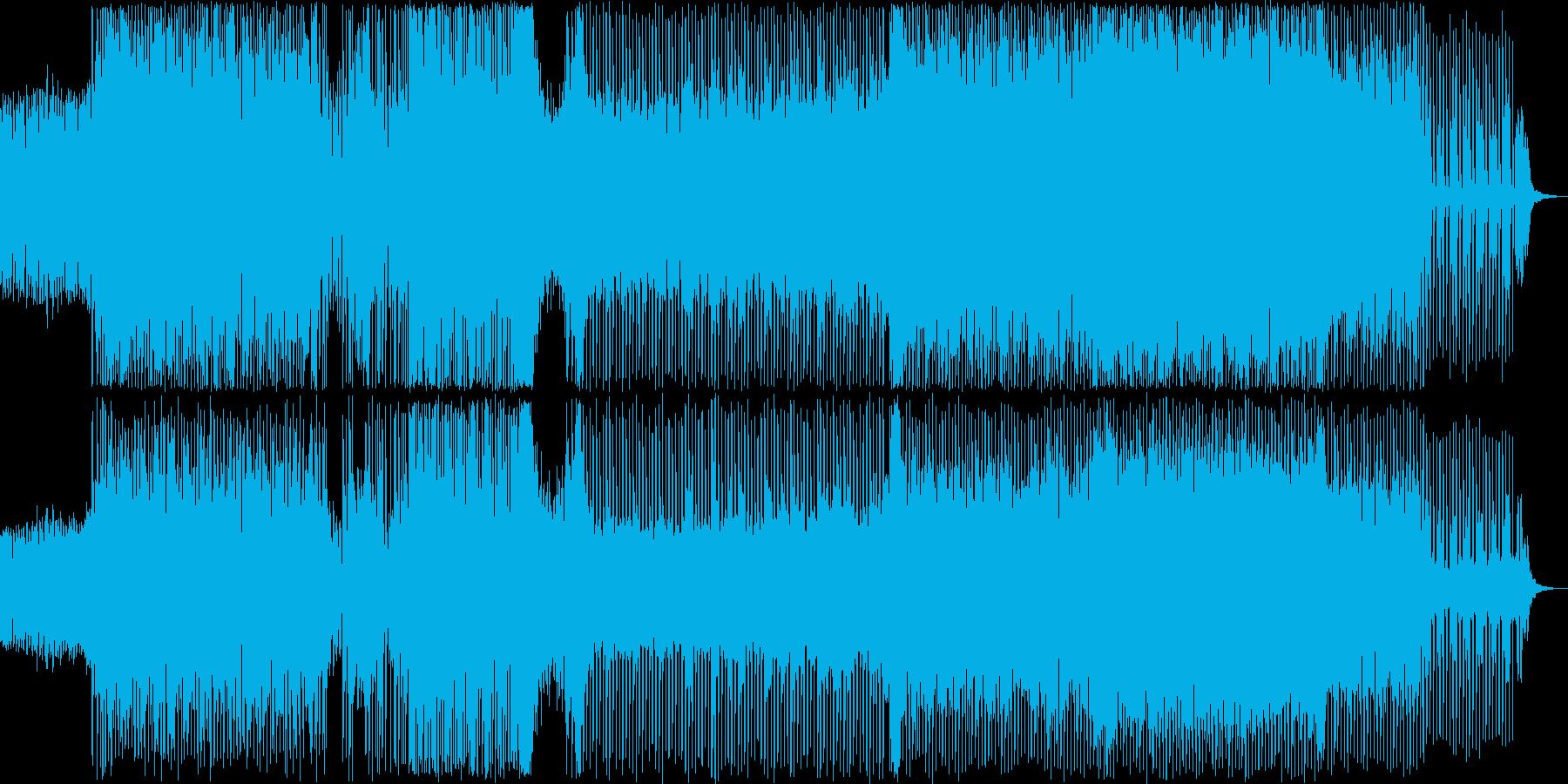 オーケストラヒットがメインのテクノの再生済みの波形