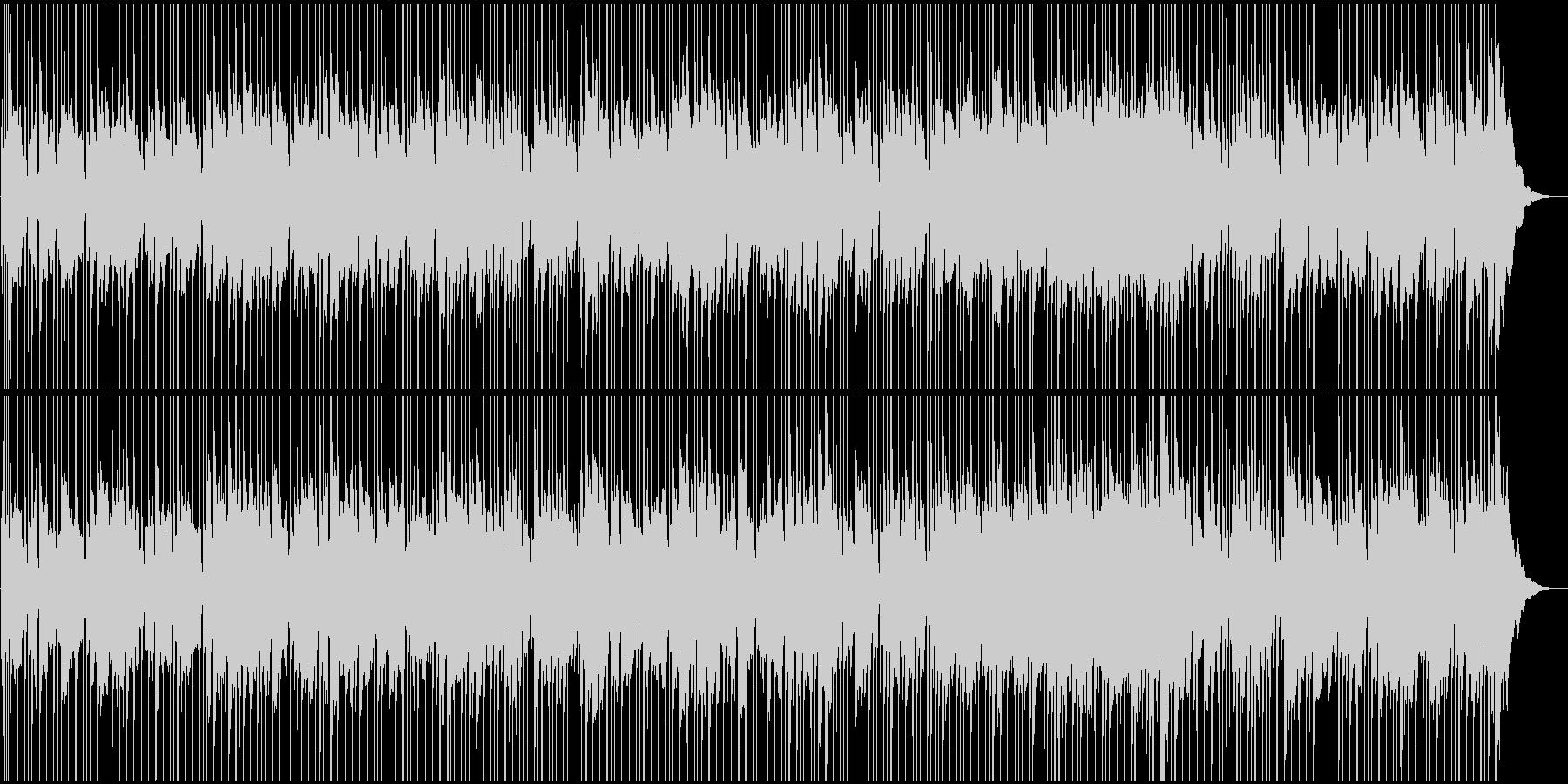 エレピ和音とシンセの落ち着いたBGMの未再生の波形