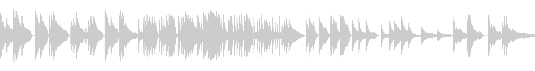 ピアノを使ったゆったりした曲の未再生の波形