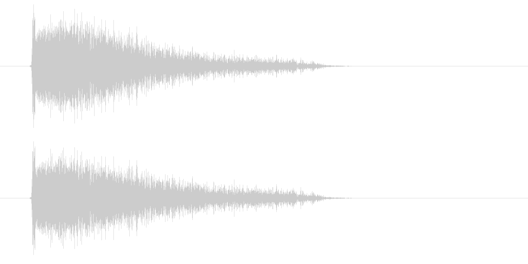 ピシューン(強めの長い風切り音)の未再生の波形