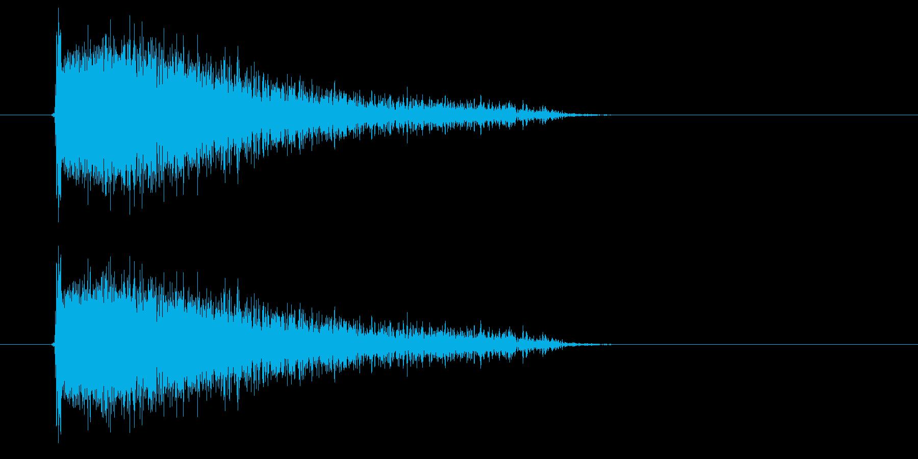 ピシューン(強めの長い風切り音)の再生済みの波形