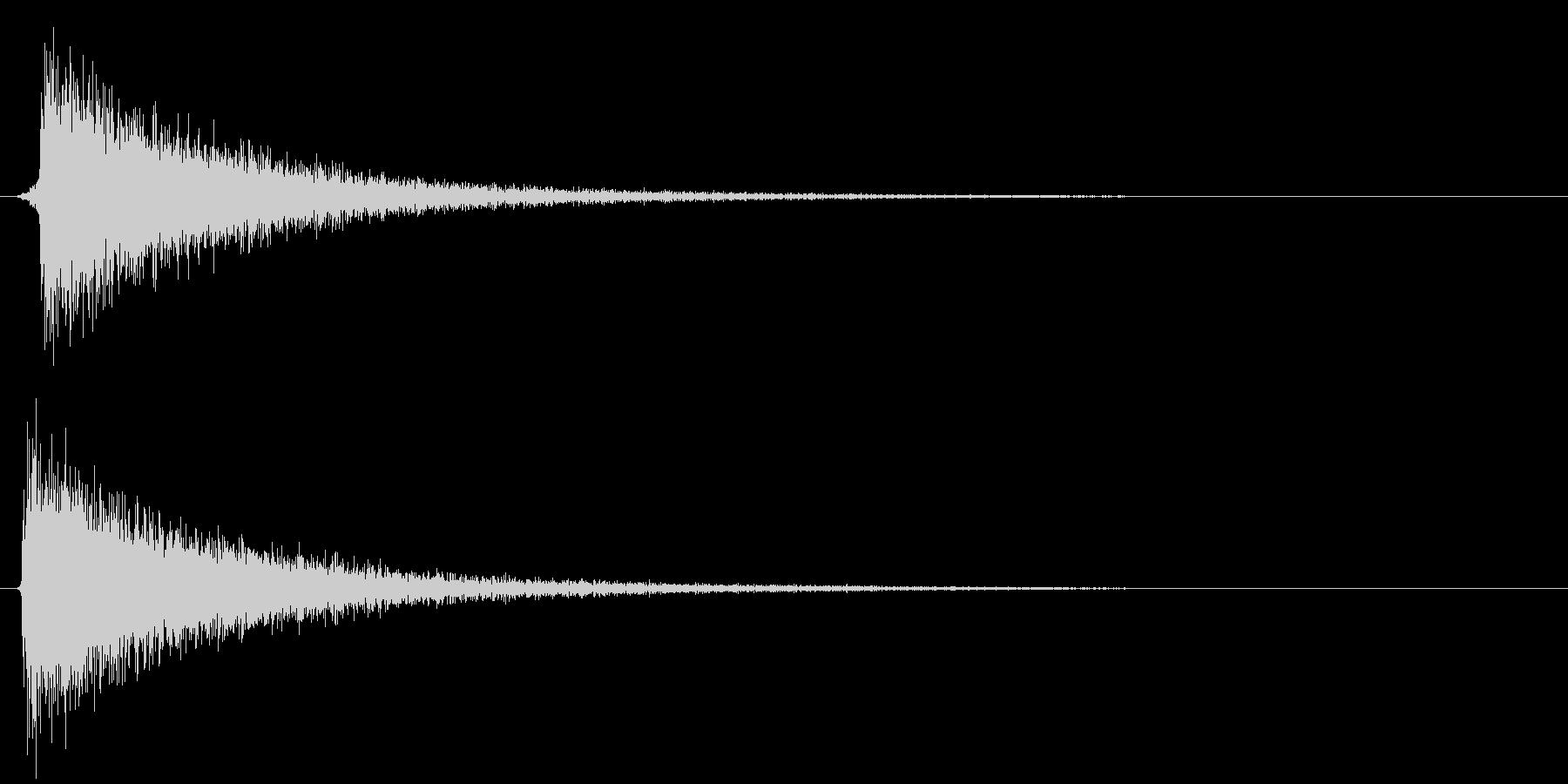 スチャッ(消し去るときの魔法音)の未再生の波形
