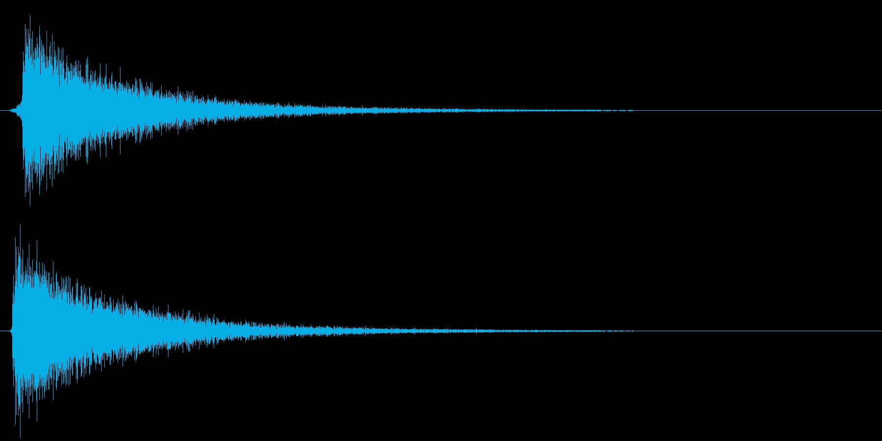 スチャッ(消し去るときの魔法音)の再生済みの波形