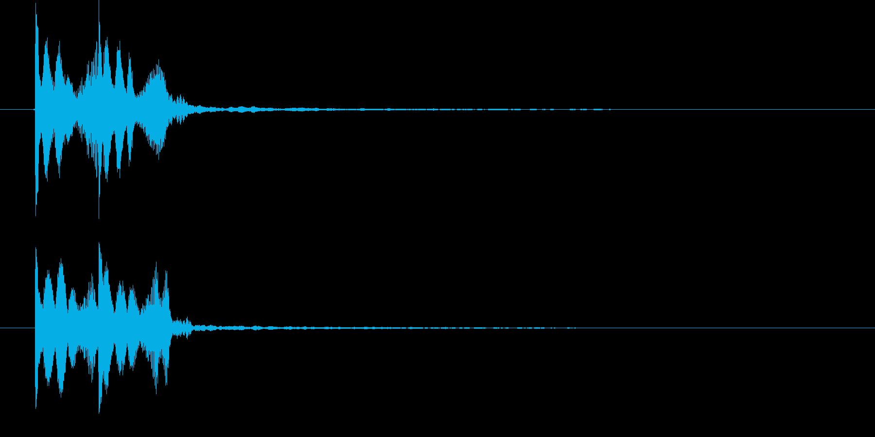 ゲームコマンドエラー音   K14の再生済みの波形