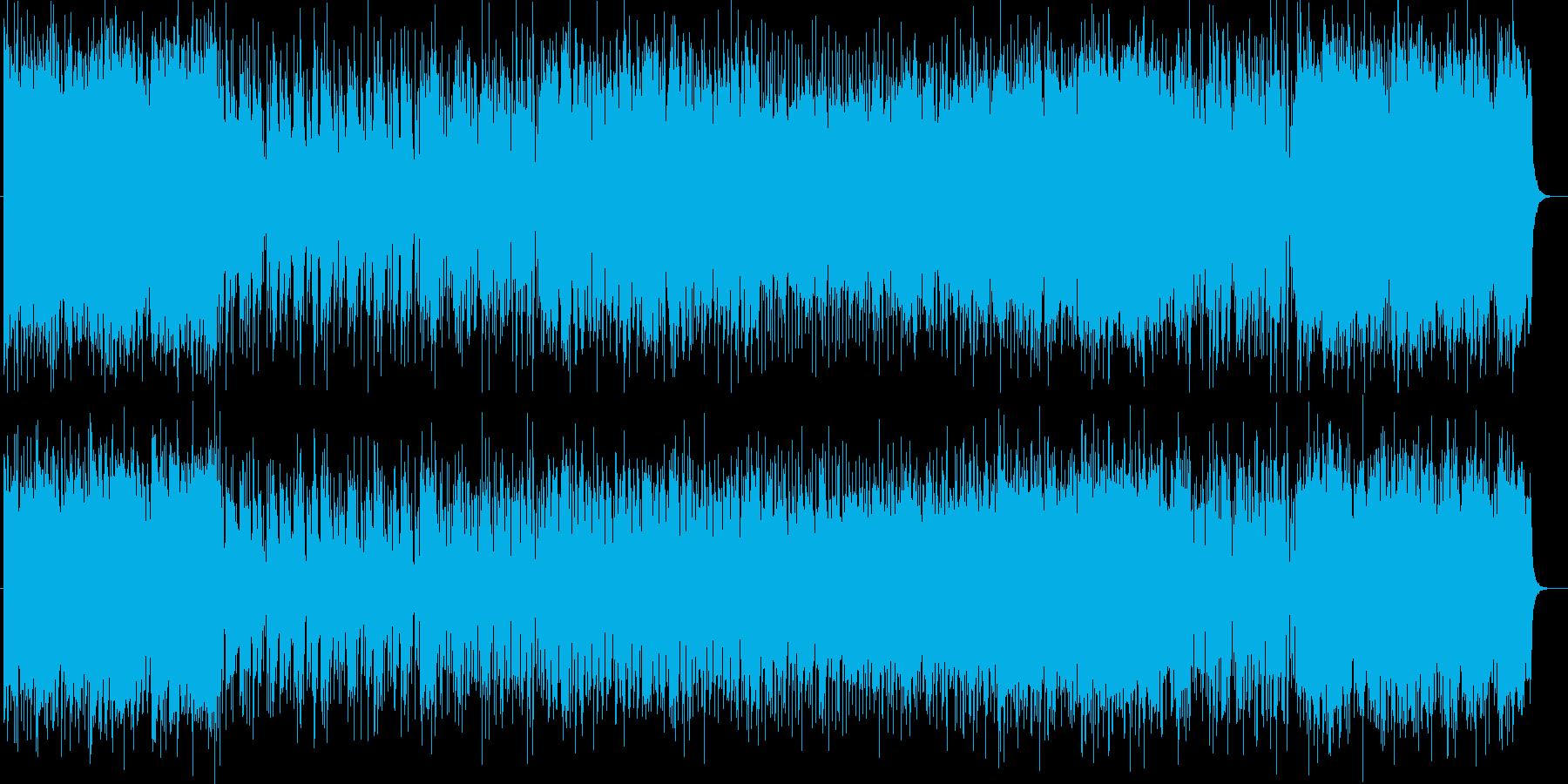 ブラスバンドによるオープニング曲の再生済みの波形