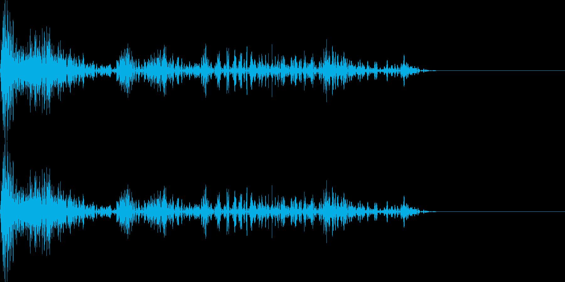 ドンドド(マイナスイメージ_ミス)の再生済みの波形