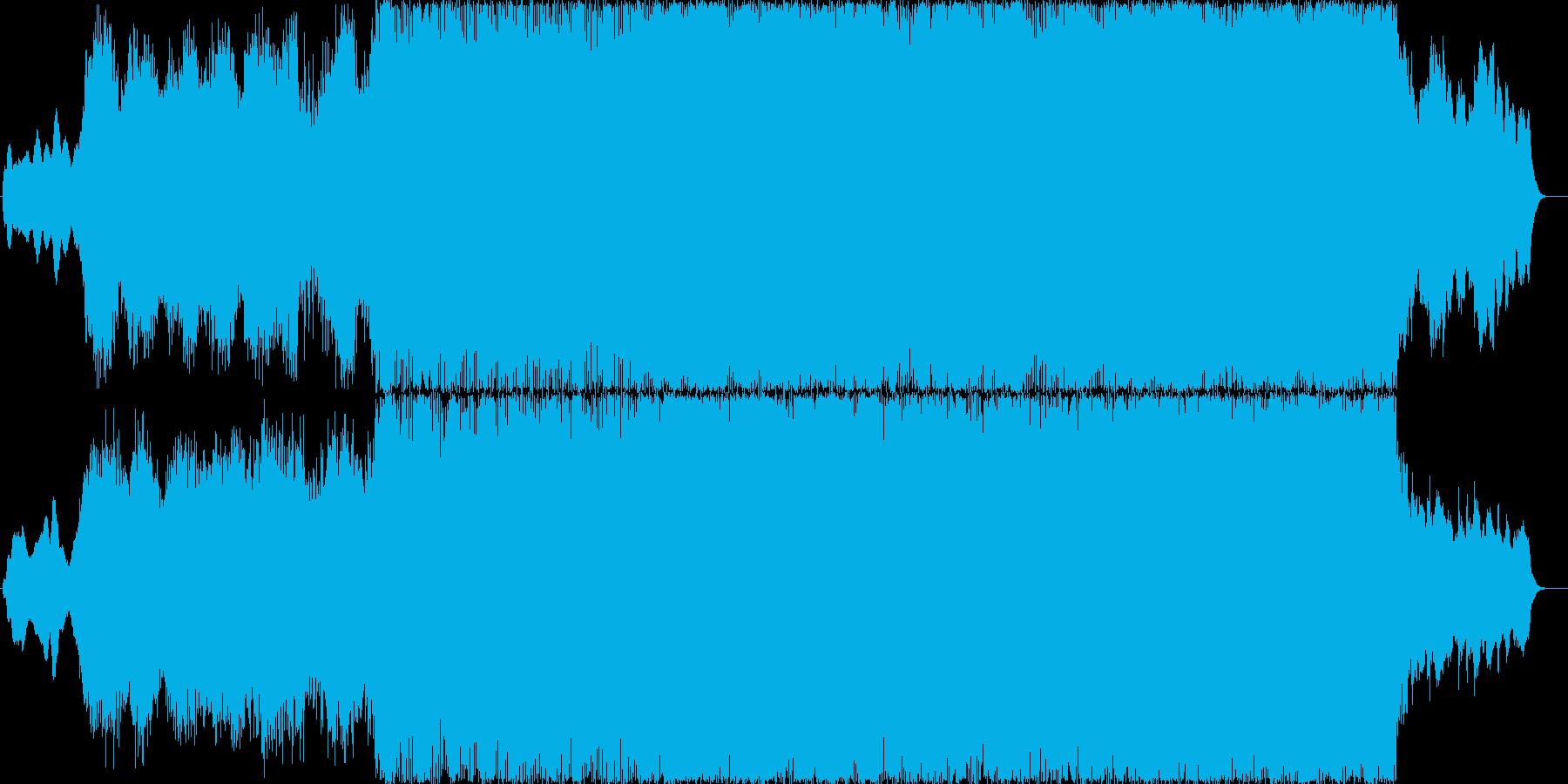 幻想的なイントロとドラムンベースのBGMの再生済みの波形