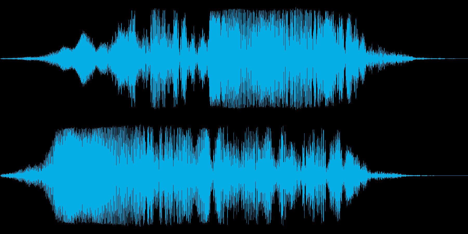 宇宙船通過(下り調子・透明感のある低音)の再生済みの波形