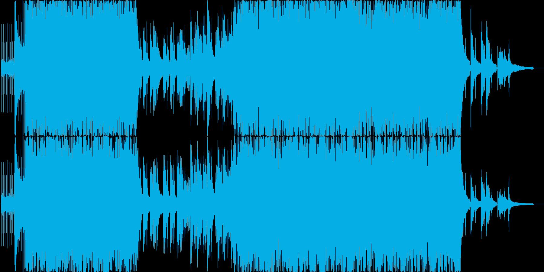 温かい3拍子の再生済みの波形
