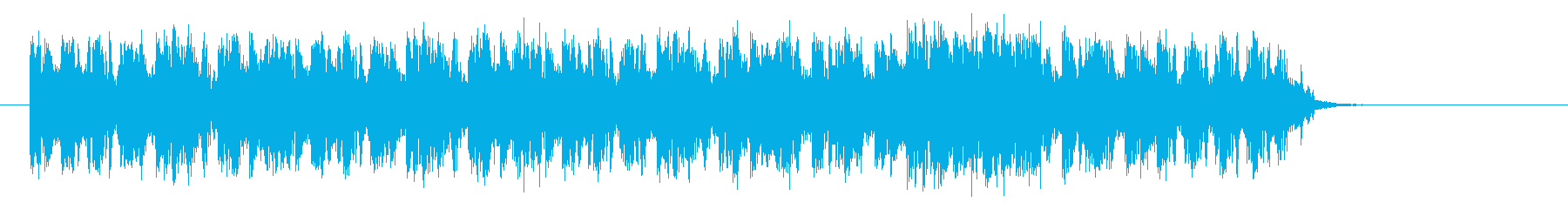 ベースが効いたインパクトのあるロックな曲の再生済みの波形