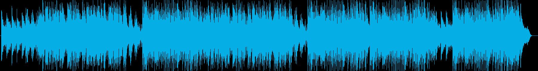 ピアノの明るく弾むようなポップスの再生済みの波形