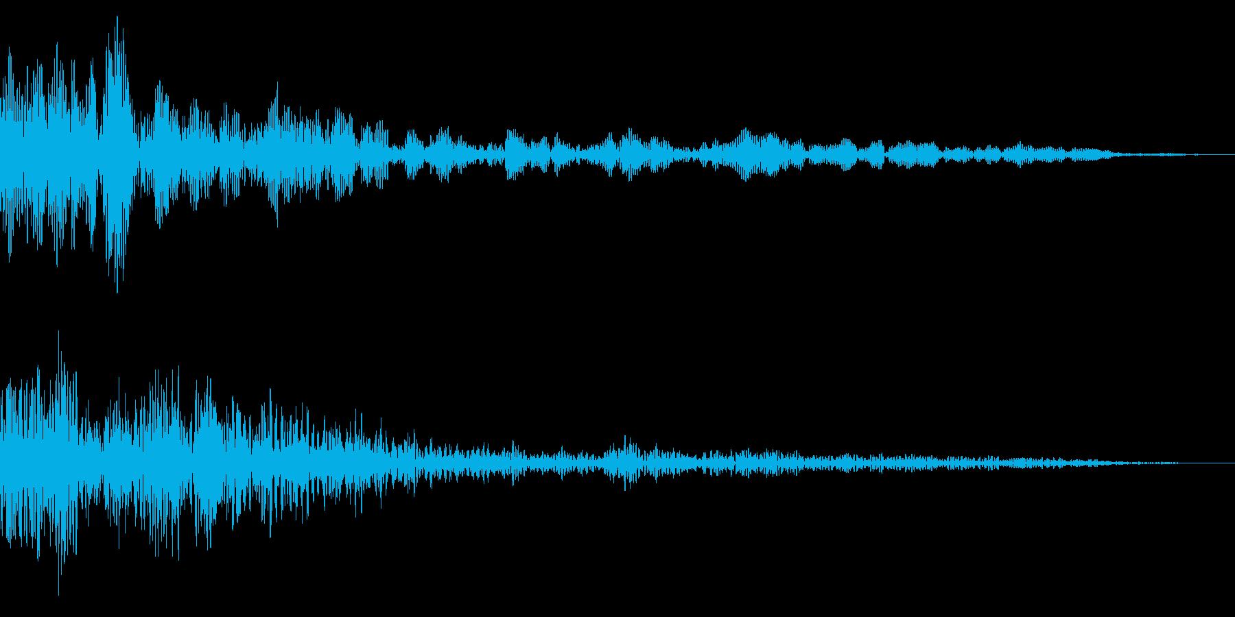 ホラー系アタック音27の再生済みの波形