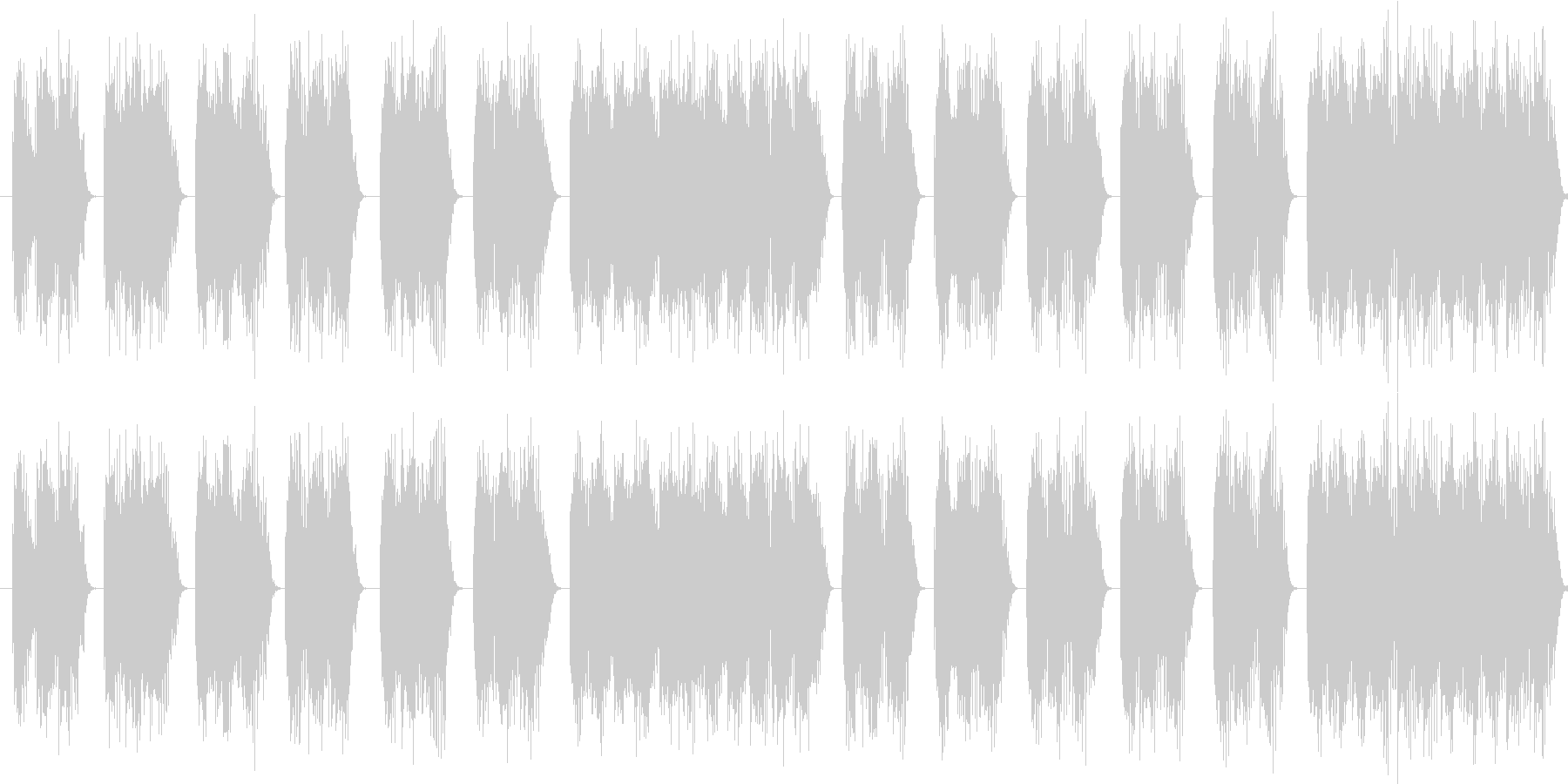 【エレキギター】デス系ヘヴィーリフの未再生の波形