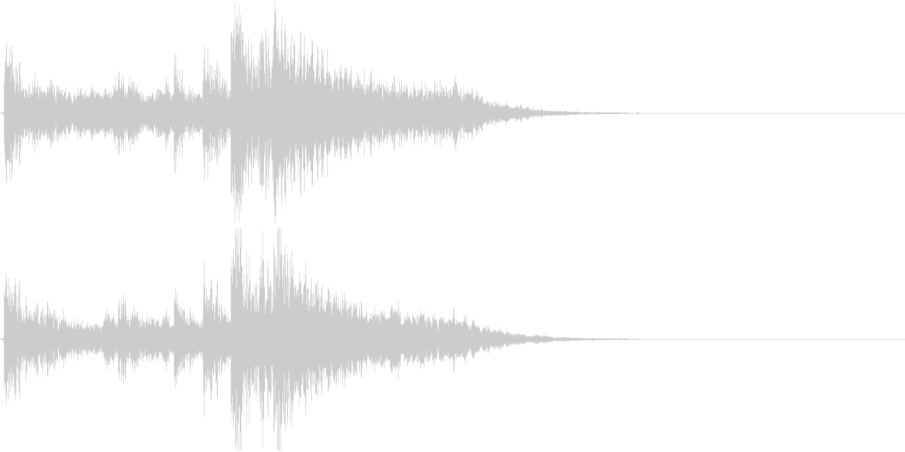 ジングル(ゲームオーバー、出現)の未再生の波形