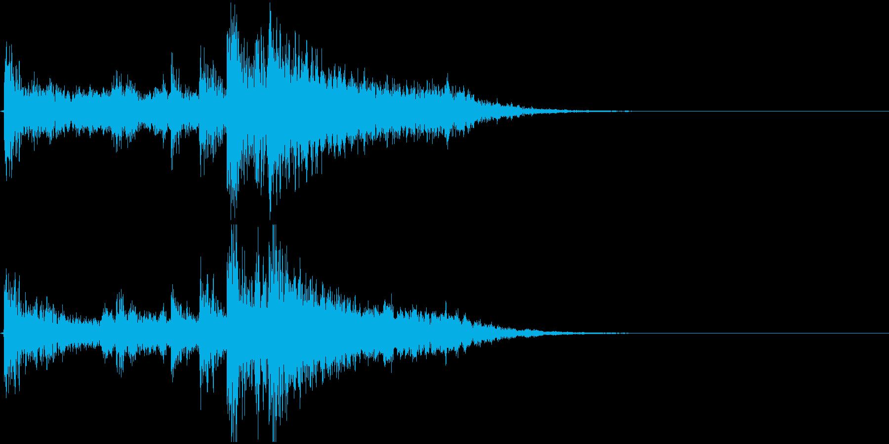 ジングル(ゲームオーバー、出現)の再生済みの波形