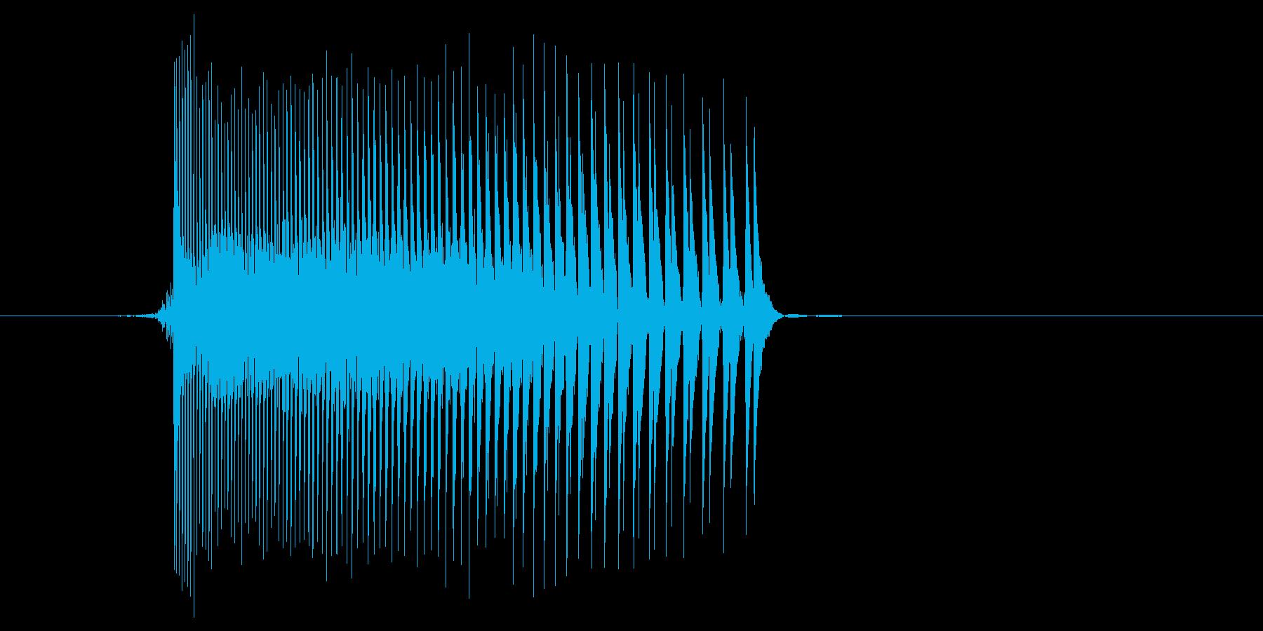 ゲーム(ファミコン風)レーザー音_013の再生済みの波形