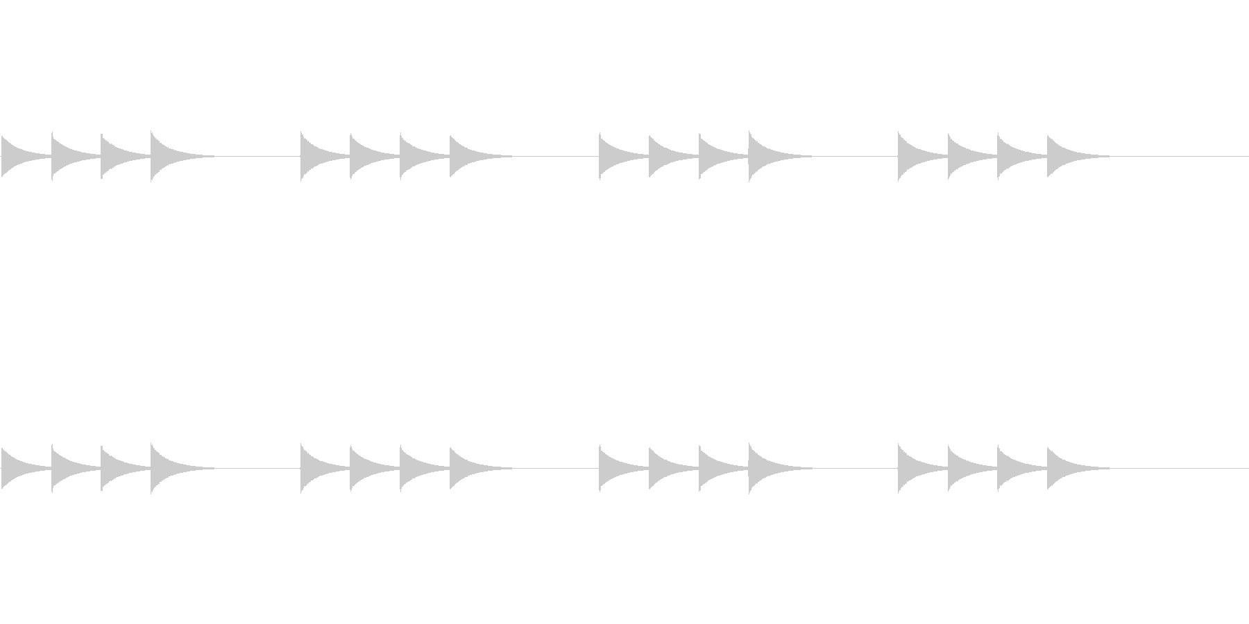 呼び出しチャイム用の未再生の波形