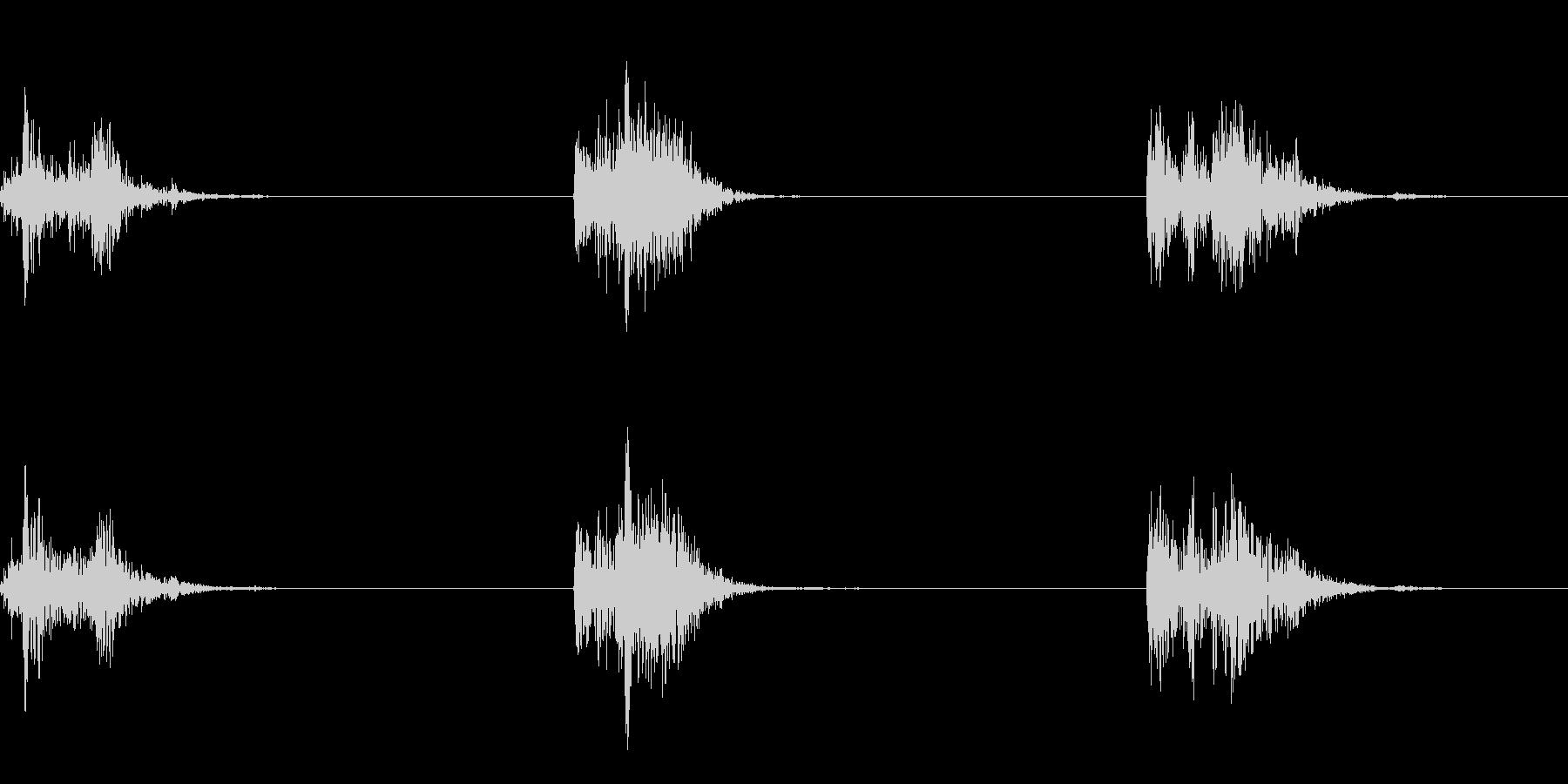 ゴボ(水中で水をかく音です)の未再生の波形