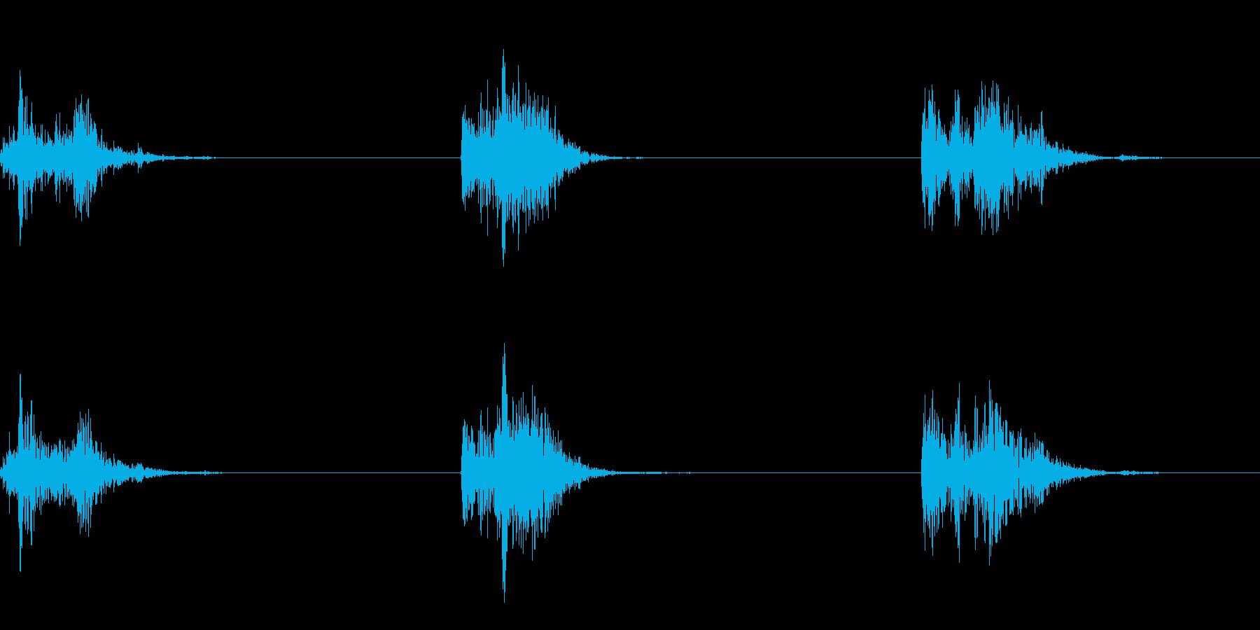 ゴボ(水中で水をかく音です)の再生済みの波形