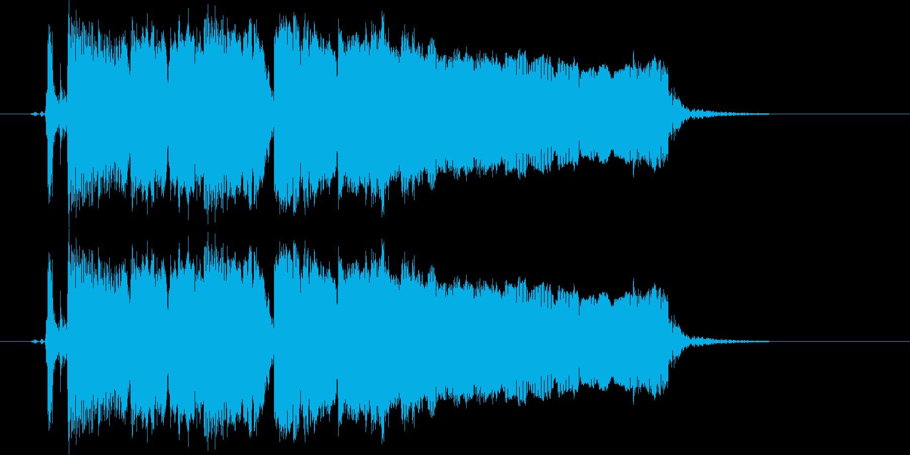 ギターフレーズ006の再生済みの波形