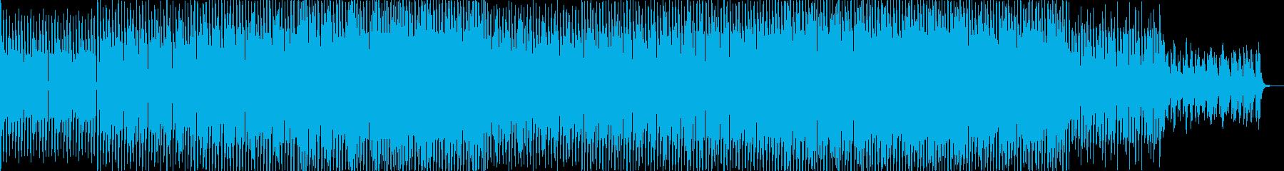 EDMドラマチックなテクノミュージックの再生済みの波形