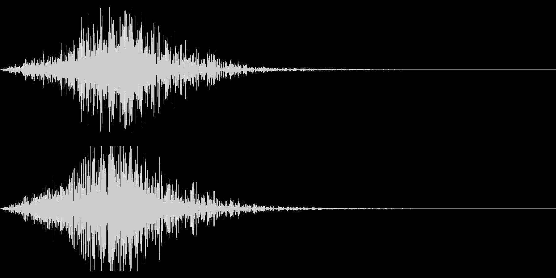 ホラー系アタック音91の未再生の波形