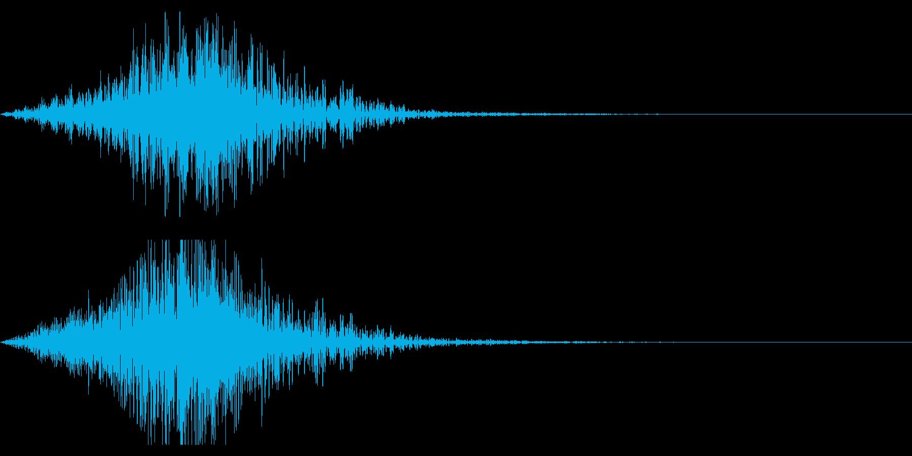ホラー系アタック音91の再生済みの波形