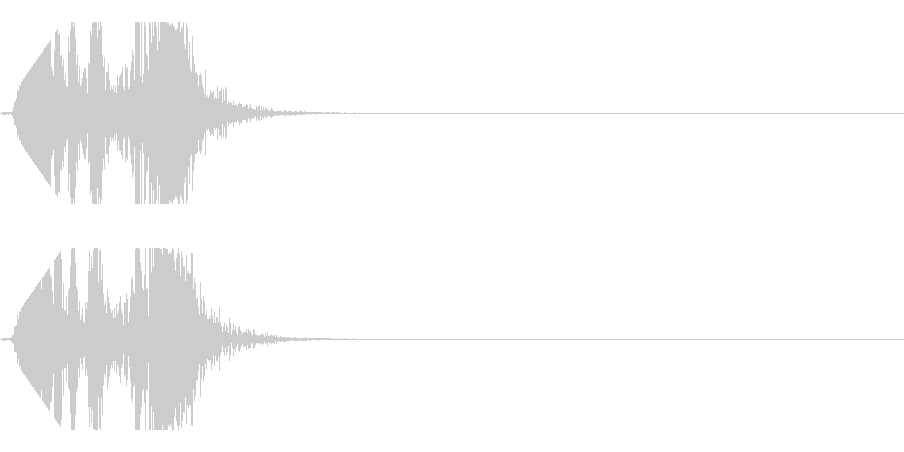 シュポッとブロックやパズルが消える音の未再生の波形