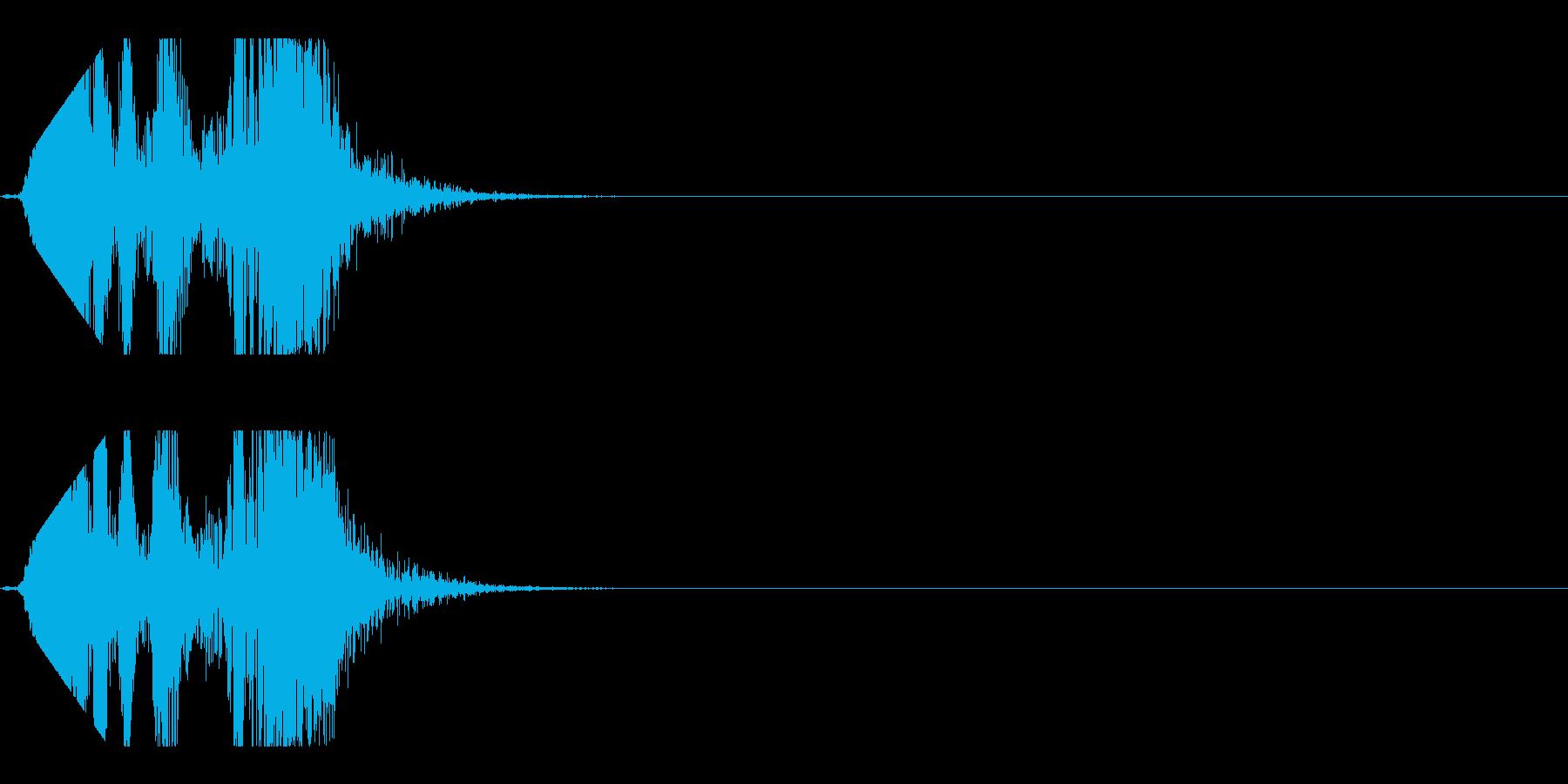 シュポッとブロックやパズルが消える音の再生済みの波形