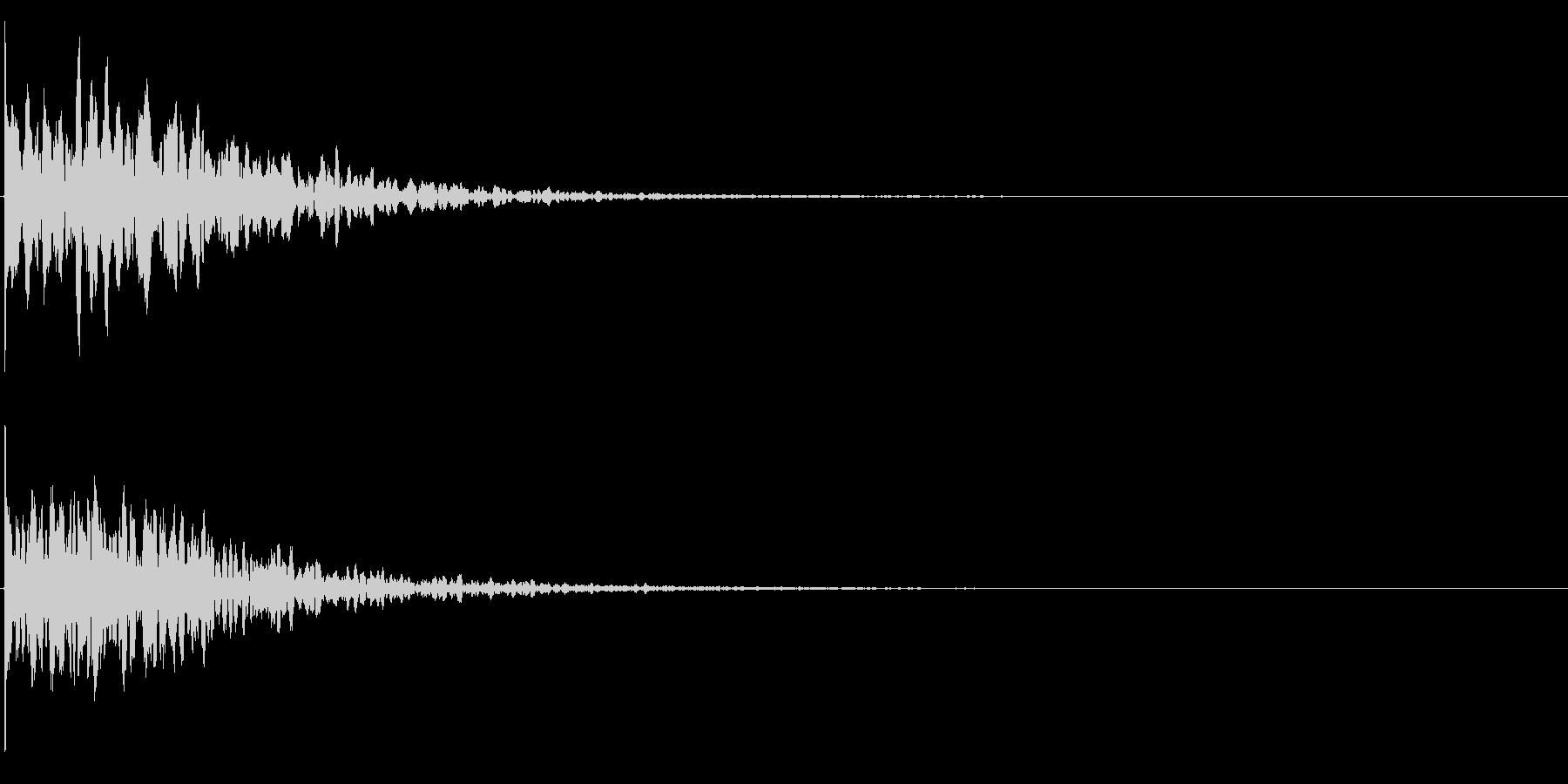 ゲームスタート、決定、ボタン音-124の未再生の波形