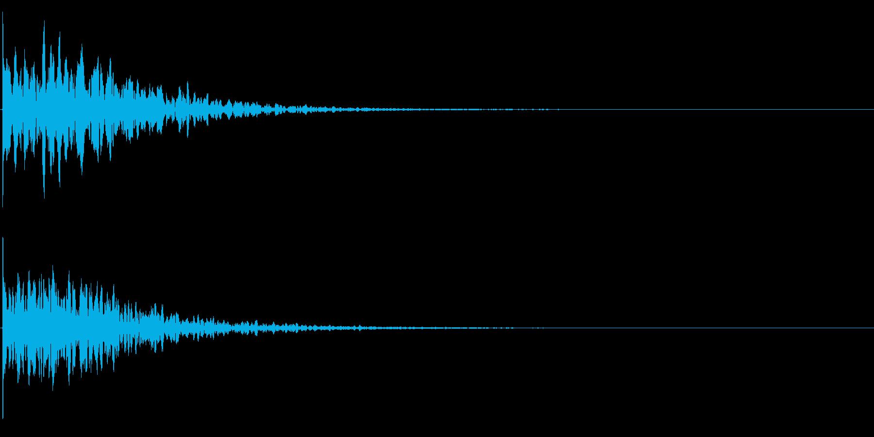ゲームスタート、決定、ボタン音-124の再生済みの波形