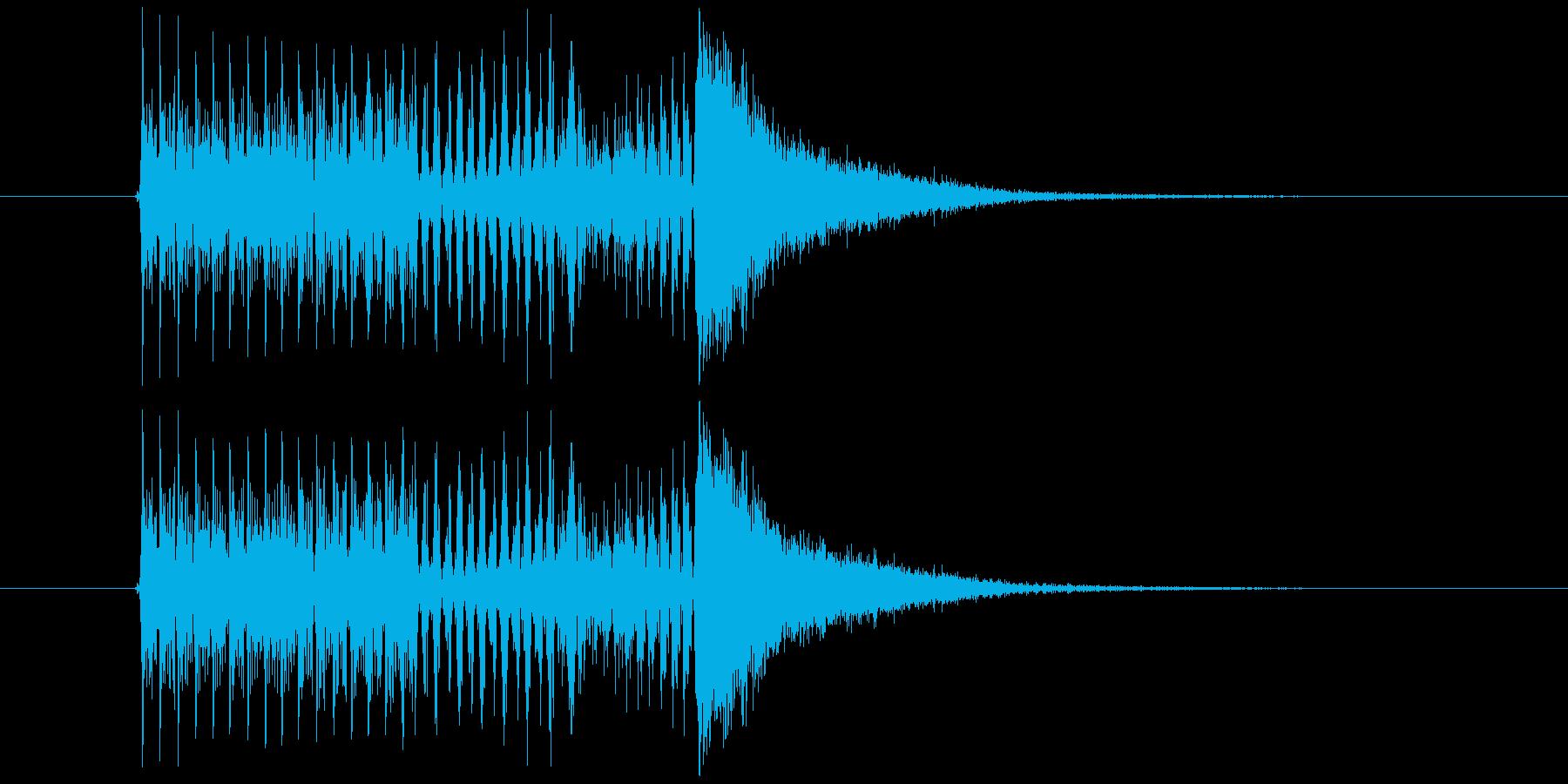 クイズで答える直前の音の再生済みの波形