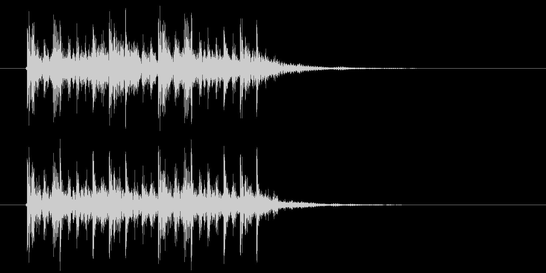 クールなテクノポップスによるジングル曲の未再生の波形