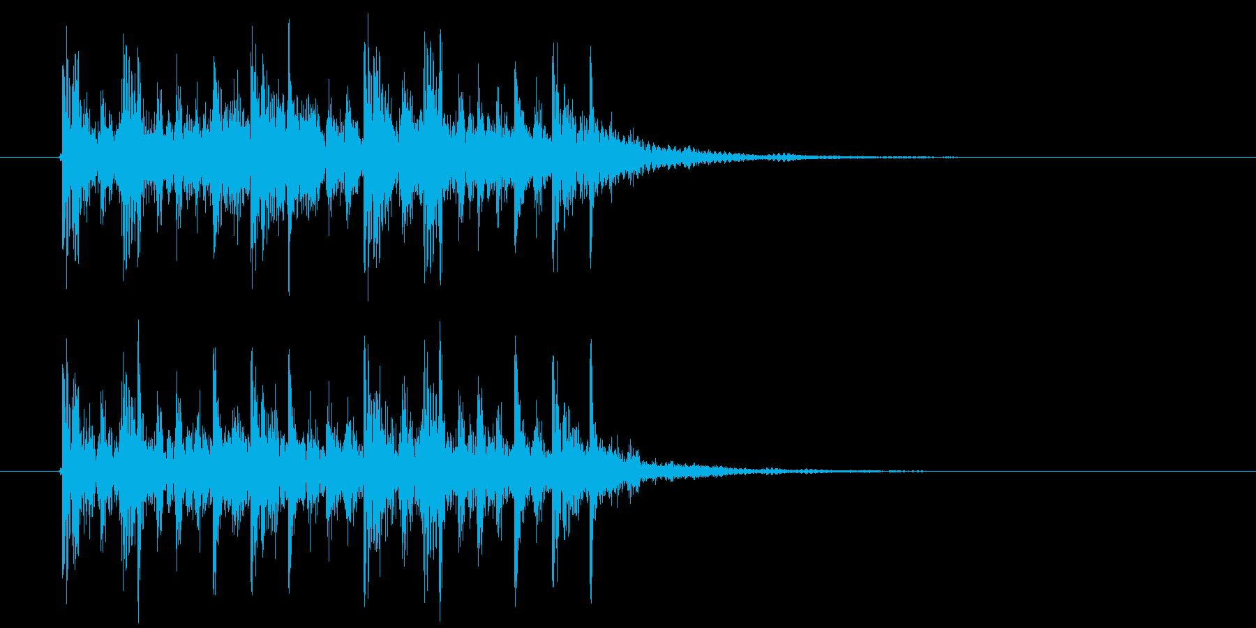 クールなテクノポップスによるジングル曲の再生済みの波形